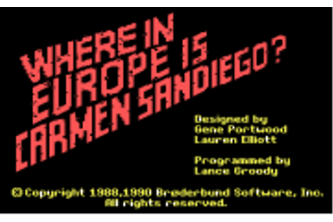 Download Where in Europe is Carmen Sandiego | Abandonia