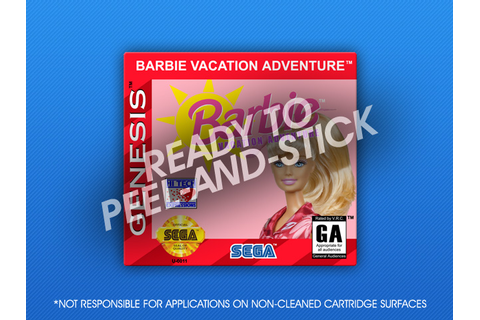 Sega Genesis - Barbie Vacation Adventure Label | Retro ...