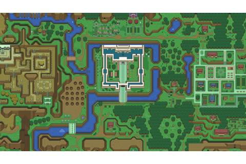 The Legend of Zelda A Link to the Past Map [2560x1440 ...