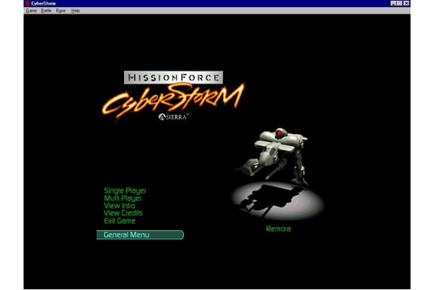 Download MissionForce: CyberStorm (Windows) - My Abandonware