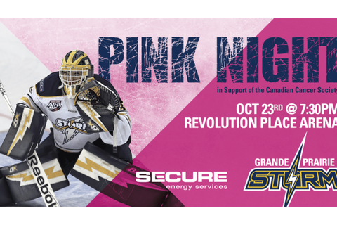 Storm sporting pink to support Canadian Cancer Society ...