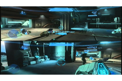 Halo 4 campaign 2 player co-op play-through mission 1 ...