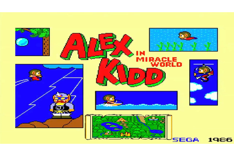Alex Kidd In Miracle World part 1 sega master system ...