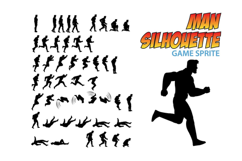 Man Silhouette Game Sprite ~ Illustrations ~ Creative Market
