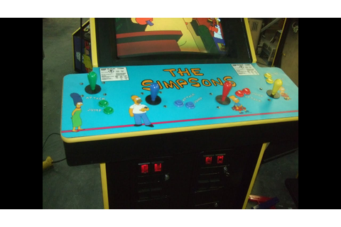 #574 Konami THE SIMPSONS Arcade Video Game headed to an ...