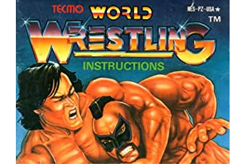 Amazon.com : Tecmo World Wrestling NES Instruction Booklet ...