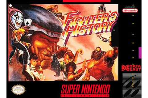 Fighter's History SNES Super Nintendo