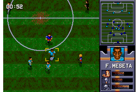 AWS Pro Moves Soccer (1993) by ASCIIWare Mega Drive game