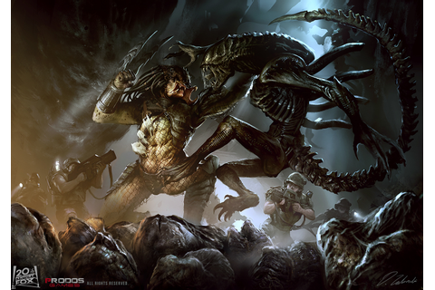 Alien vs Predator on Behance