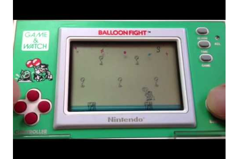 Balloon Fight Gameplay - Nintendo Game & Watch - YouTube