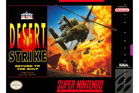 Desert Strike - Return to the Gulf SNES Super Nintendo
