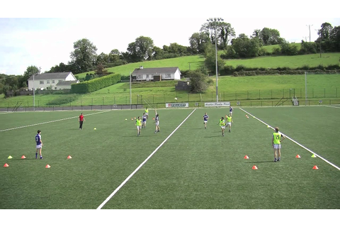 Gaelic Football possession game 8 - YouTube