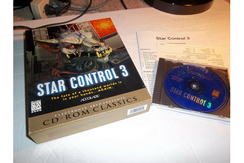 Star Control III 3 Accolade rare pc game w/ box reference ...