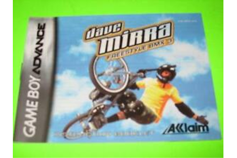 DAVE MIRRA FREESTYLE BMX 3 :NINTENDO GAME BOY ADVANCE ...