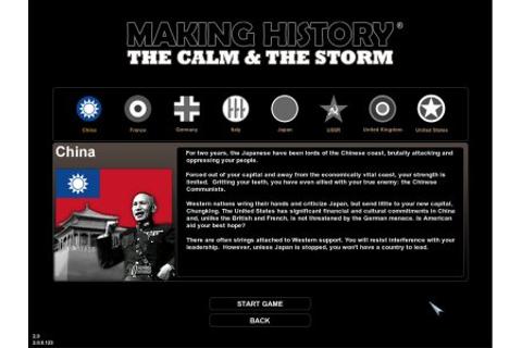 MAKING HISTORY: The Calm & the Storm - PC - Preview