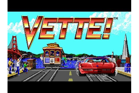 LGR - Vette! - DOS PC Game Review - YouTube