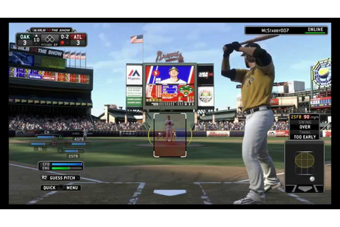MLB 14 The Show PS4 - Braves VS A's Online Full Game w ...