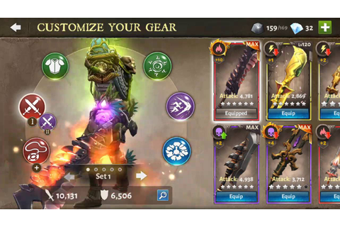 Dungeon Hunter 5 - Weapons - Gameloft DH5 - YouTube
