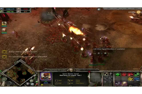 Warhammer 40k Dawn Of War [Gameplay HD] widescreen battle ...