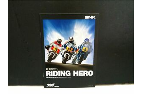 THE RIDING HERO GAME INSTRUCTION MANUAL ONLY FOR NEO GEO ...