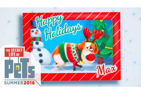 Secret Life of Pets Trailer Features Happy Holiday Greetings