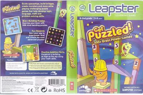 LEAP FROG LEAPSTER LEARNING GAME GET PUZZLED....300+ BRAIN ...
