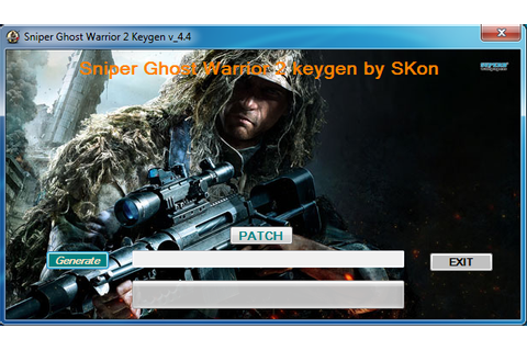 Game Codes and cheats: Sniper Ghost Warrior 2 keygen