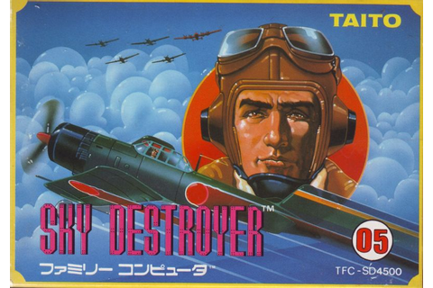 Sky Destroyer (1985) NES box cover art - MobyGames