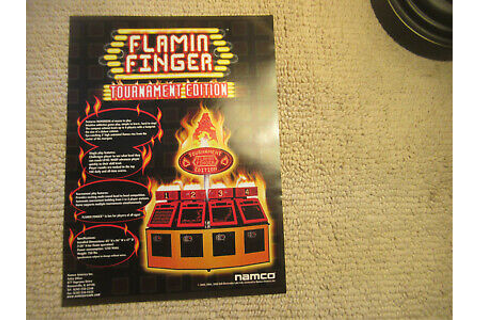 odd size 11- 8.5'' FLAMIN FINGER TOURNAMENT EDITION arcade ...