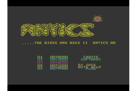 Commodore 64: 'Antics - the birds and bees II' game ending ...