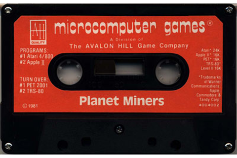 Atari 400 800 XL XE Planet Miners : scans, dump, download ...