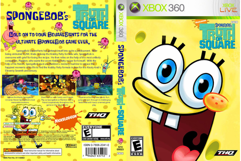Capa Spongebobs Truth Or Square Xbox 360 - Gamecover ...