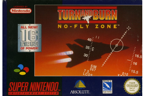 Turn and Burn: No-Fly Zone for SNES (1994) - MobyGames