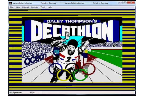 Daley Thompsons Decathlon - Spectrum - Full Tape Load ...
