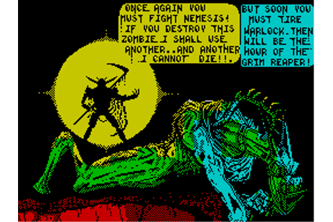 Nemesis the Warlock Screenshots for ZX Spectrum - MobyGames