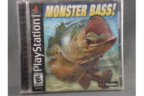 Playstation Monster Bass Video Game 780332053065 | eBay