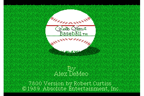Pete Rose Baseball (1989) by Absolute Entertainment Atari ...