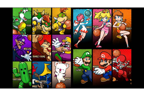 Mario Slam Basketball Music - Character Select - YouTube