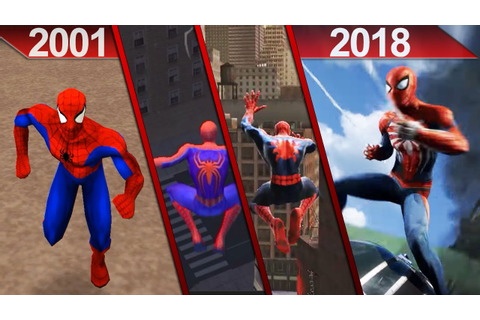 Evolution of Spider-Man Games Graphics (2001 - 2018) | PC ...