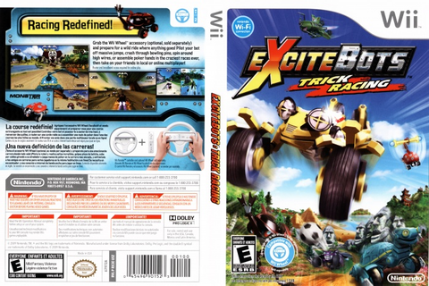 Excitebots Trick Racing Wii Box Art Cover by thevideogame35