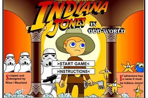 Indiana Jones In Odd World Game - Adventure games - Games Loon