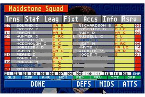 Championship Manager 93/94 Download (1993 Sports Game)