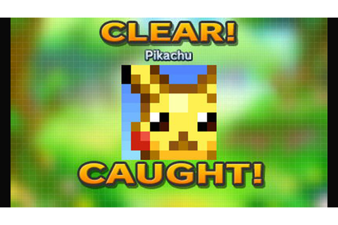 Pokemon Picross - Pikachu Playthrough [3DS] - YouTube