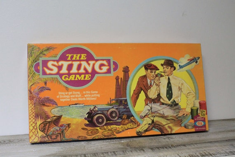 1976 Ideal The Sting Board Game