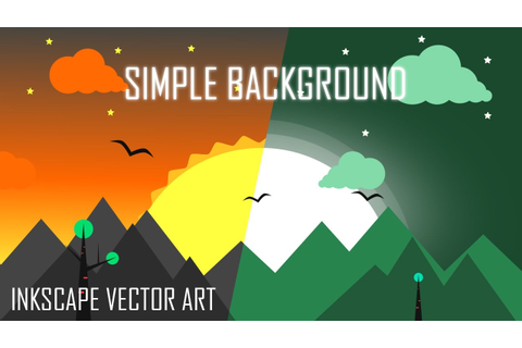 Simple Flat Background - Vector Game Art in Inkscape ...
