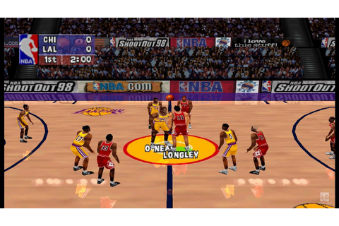 NBA ShootOut 98 PS1 Gameplay HD - YouTube