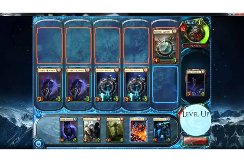 Playing Solforge the card game - YouTube