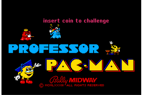 Professor Pac-Man - The Cutting Room Floor