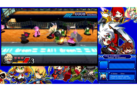Blazblue - Clone Phantasma 3DS Gameplay (Noel story mode ...
