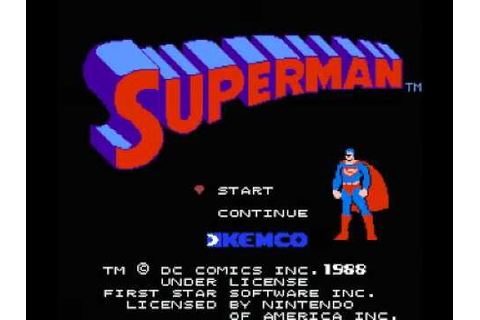 Superman (NES) Music - Game Over - YouTube